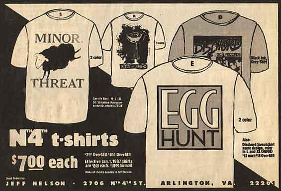 Dischord shirts